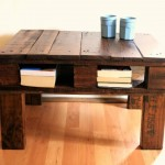 Rustic table with a pallet