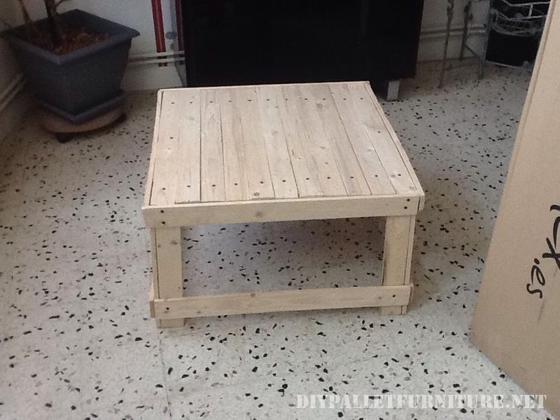 Coffee table made from reclaimed wood tables 2
