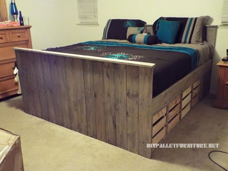 Pallet bed with drawers 3