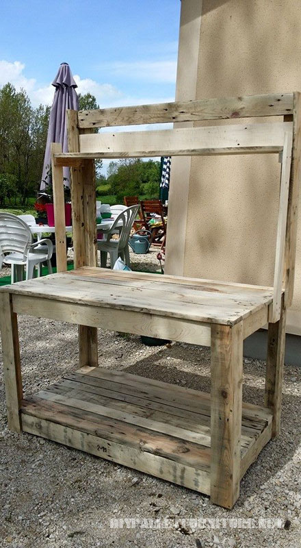 Pallet garden furniture 5