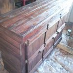 Small pallets cabinet with a triple door