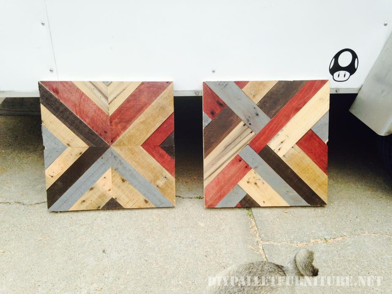 Tables with borders made of pallets 3