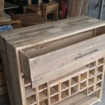 Wine rack and drawers with pallets