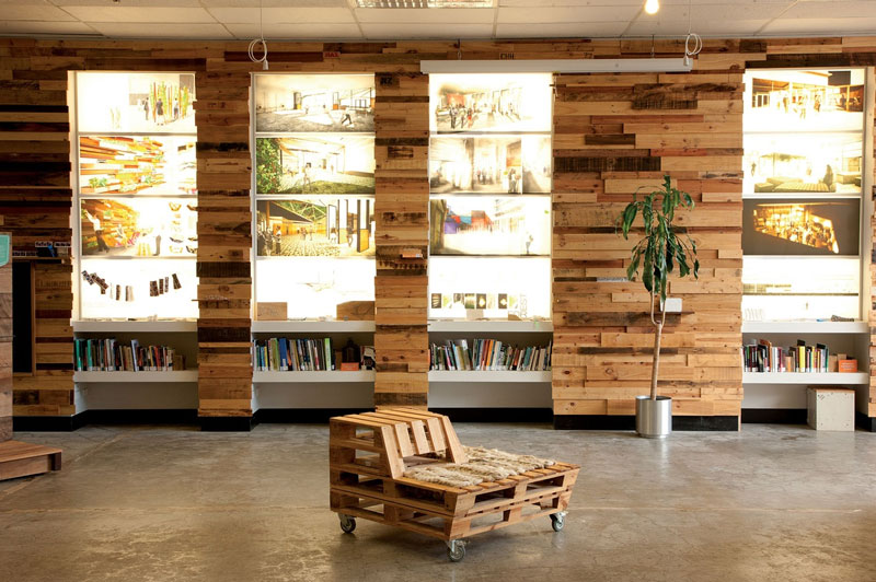 Furniture made from pallets in the Sustainability Trust ...