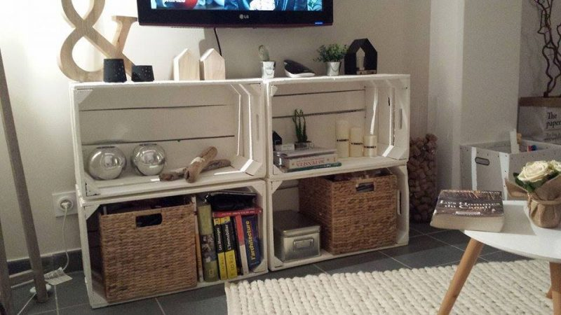 4 Furniture TV with fruit boxes 4