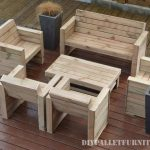 Furniture for the terrace with pallets