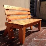 Garden bench with pallets