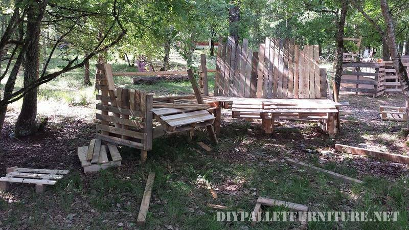 Pallets large bench 2