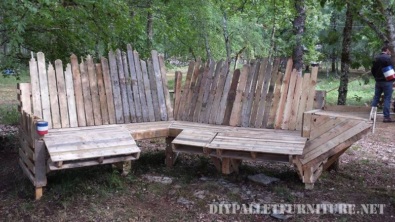 Pallets large bench 3