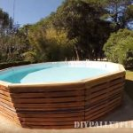 Video of how to build a pool with pallets
