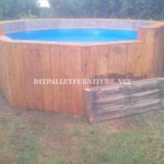 Pool made with pallets