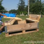 Folding sand patch made with pallets