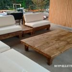 BBQ space furnished with pallets