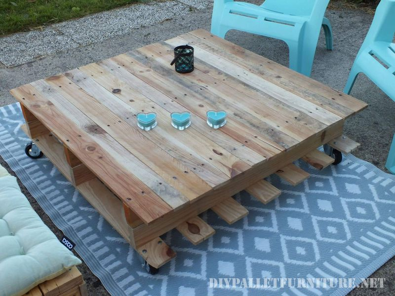Chill-out space for the terrace with pallets 2