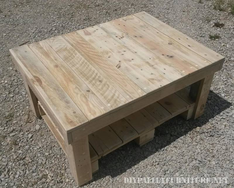 Coffee table with pallets 2