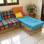 Easily lounge furnished with pallets
