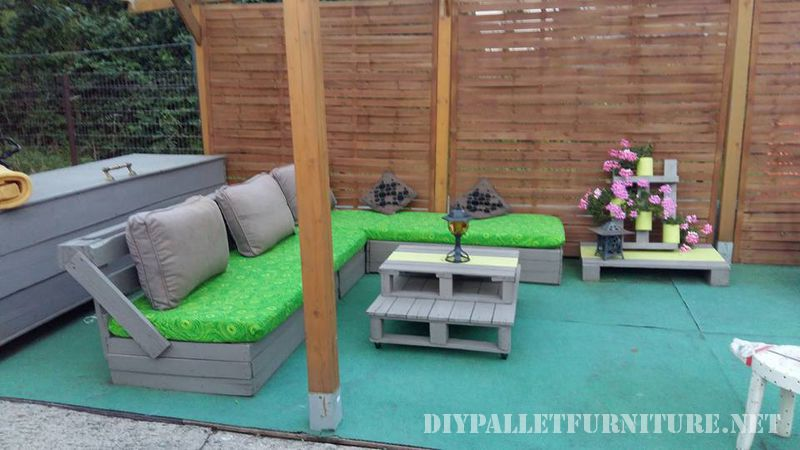 Patio furniture with pallets 1