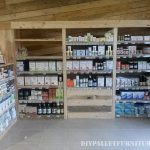 Shop furnished with pallets