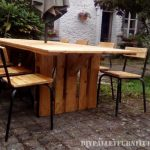 Table and chairs garden gazebo with pallets