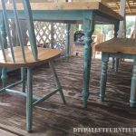 Table recovered with pallet planks