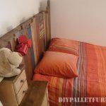 Vintage pallet bed