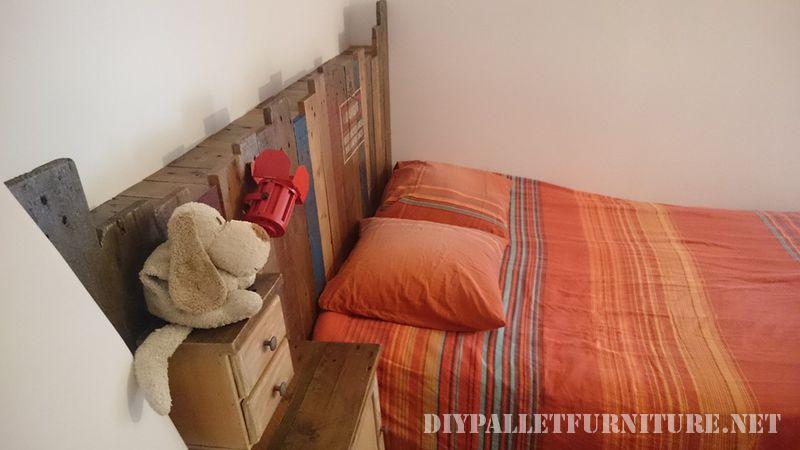 Vintage pallet bed 2