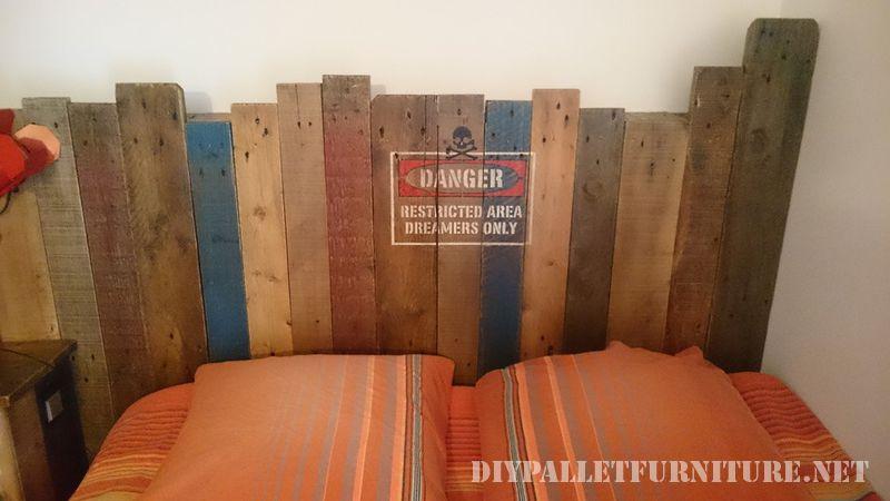 Vintage pallet bed 3