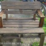 Sturdy pallet bench