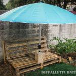 Outdoor chair with umbrella