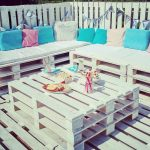 Chill-out and outdoor deck with pallets