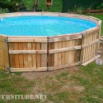 Pool built with pallets