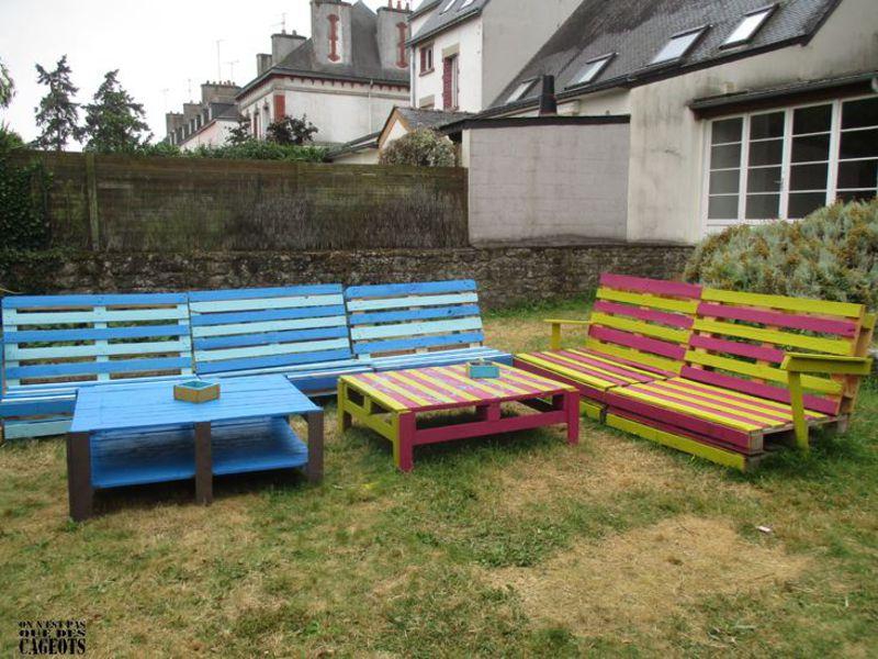 Garden furniture On n'est pas que des cageots 1