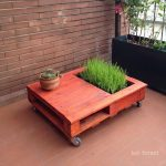 Planter table for the cat with a pallet
