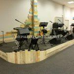 Scenario built with pallet planks