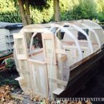 Caravan made with 99.9% pallet planks