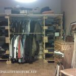 Clothes organizer  made with pallets