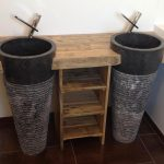 Bathroom furniture design built with pallets