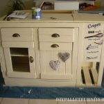 Kitchen island built with pallets