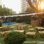 Pallet furniture rental for events