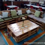 Sofa and lounge table made with pallets