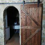 Door made with pallet boards