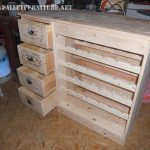 Bottle rack and drawer with pallets
