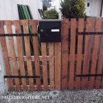 Garden door with pallets