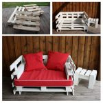 Sofa and pallet table