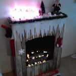 Christmas fireplace of pallets