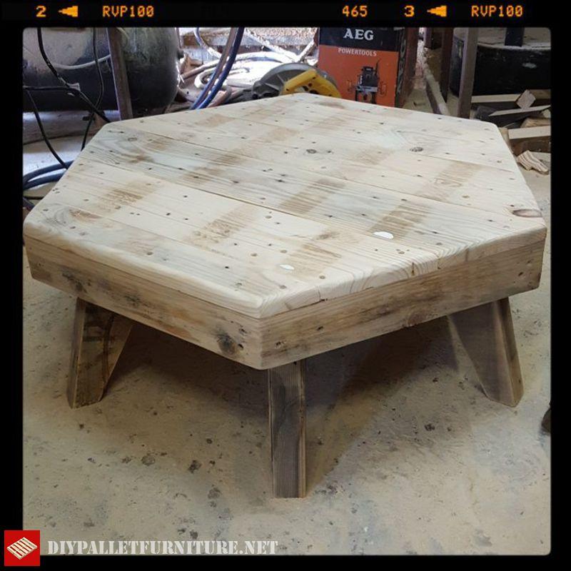 Hexagon coffee tableDIY Pallet Furniture | DIY Pallet Furniture