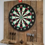 Dartboard made with pallets