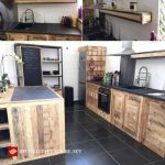 Kitchen idea decorated with pallets