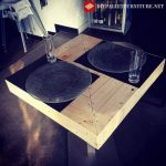 Bar tables with pallets