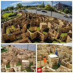 Maze designed with pallets
